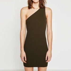 NEW Zara One Shoulder Bodycon Knit Dress